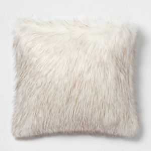 Threshold faux fur pillow